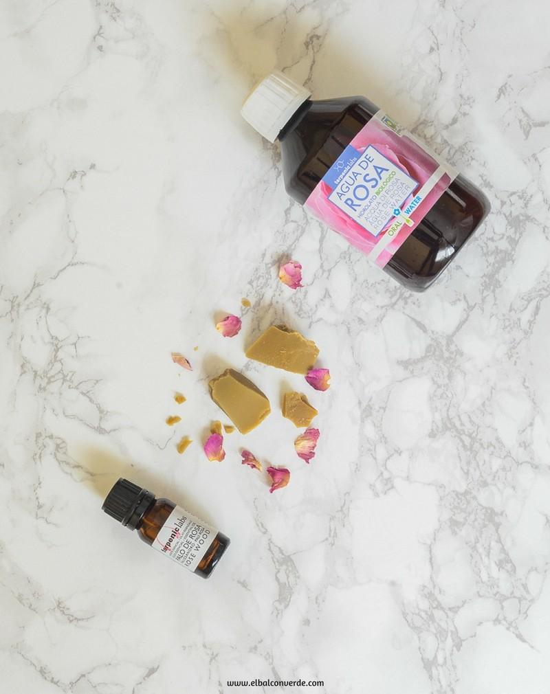 Imagen ingredientes crema corporal de rosas