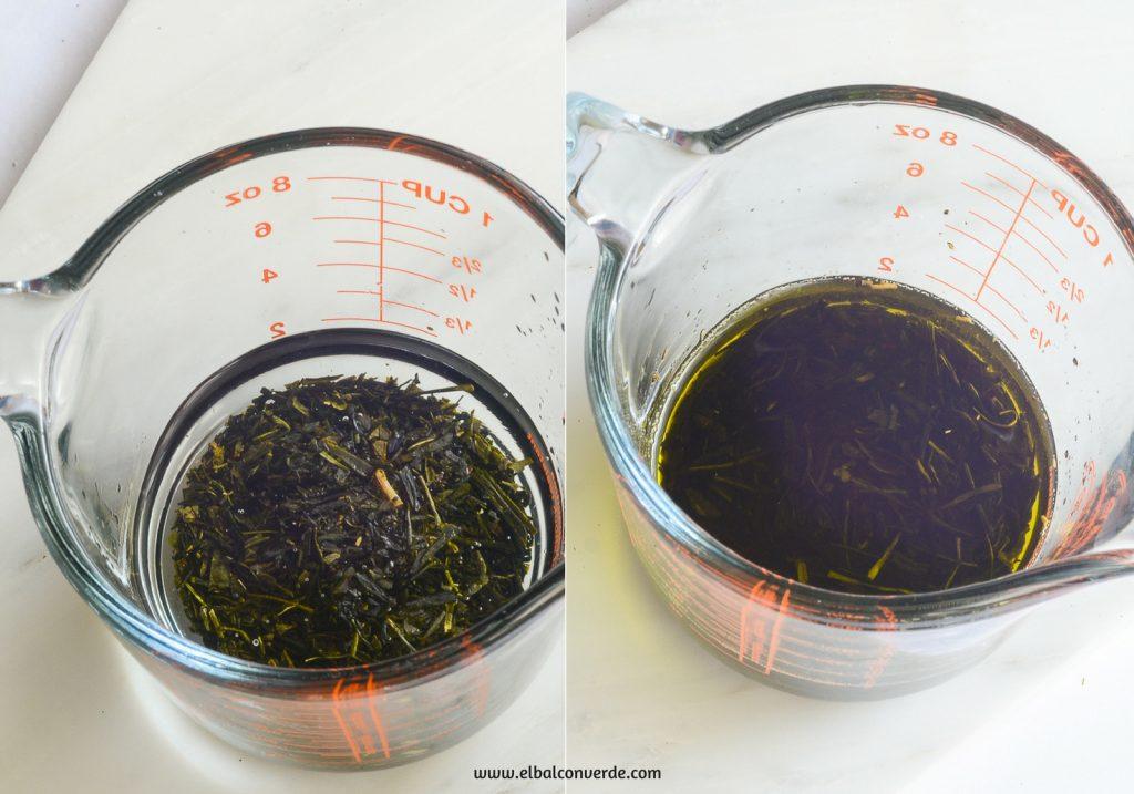 Imagen de oleato macerado de té verde
