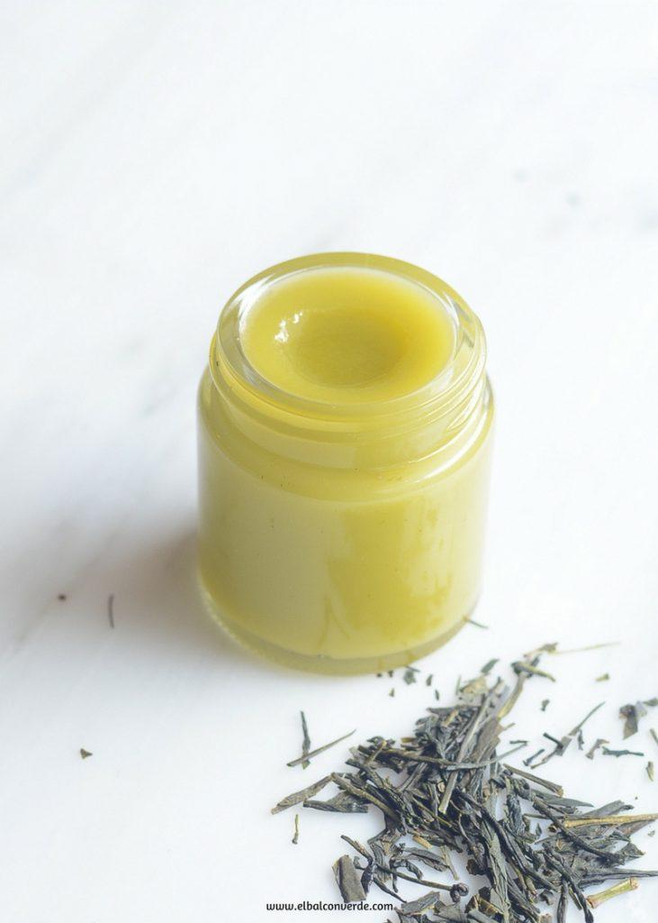 Imagen de receta de bálsamo corporal de aceite de coco y té verde