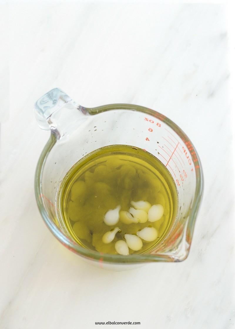 Receta bálsamo corporal de aceite de coco y té verde