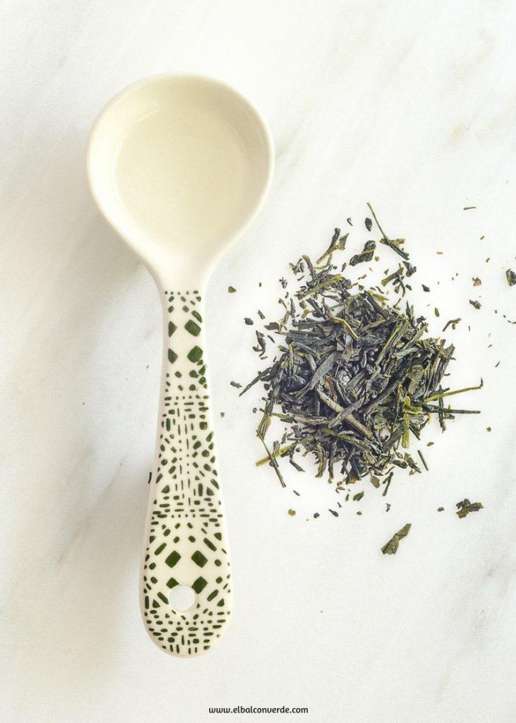 Imagen de bálsamo corporal de aceite de coco y té verde
