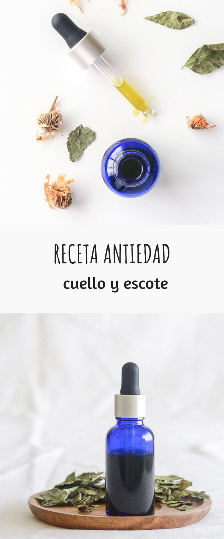 RECETA ANTIEDAD CUELLO Y ESCOTE