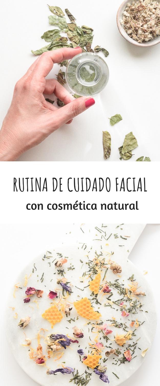 RUTINA DE CUIDADO FACIAL CON COSMETICA NATURAL CASERA